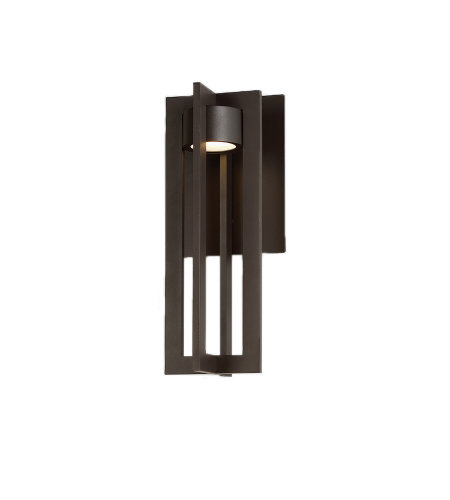 dweLED by WAC Lighting WS-W48616-BZ Chamber 16in LED Outdoor Wall Light 3000K in Bronze