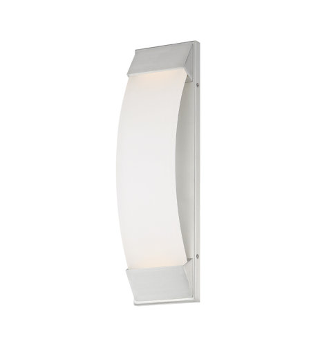 dweLED by WAC Lighting WS-W29718-AL Panorama 18in LED Outdoor Wall Light 3000K in Brushed Aluminum