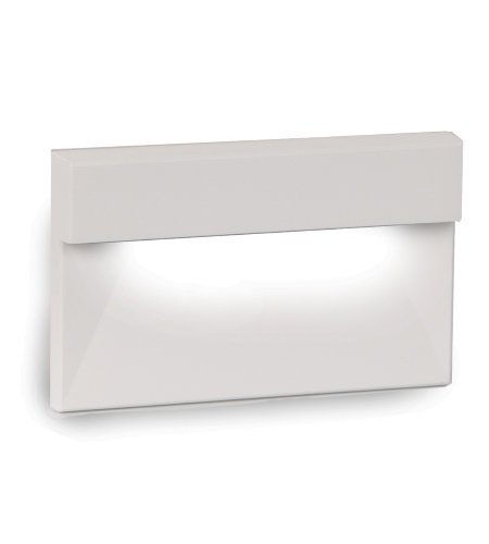 Wac Landscape 4091-Amwt Led Low Voltage Horizontal Led Low Voltage Step And Wall Light Amber In White