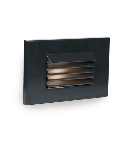 WAC Lighting WL-LED120-AM-BK LED Horizontal Louvered Step and Wall Light 120V Amber in Black
