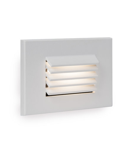 WAC Lighting WL-LED120-AM-WT LED Horizontal Louvered Step and Wall Light 120V Amber in White