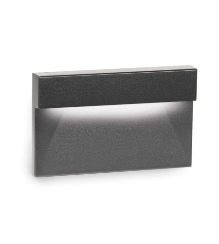 WAC Lighting WL-LED140-C-BK LED Horizontal Ledge Step and Wall Light 120V 3000K in Black