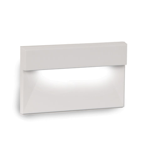 WAC Lighting WL-LED140-AM-WT LED Horizontal Ledge Step and Wall Light 120V Amber in White