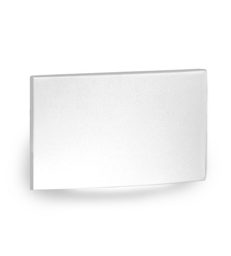 WAC Lighting WL-LED110F-AM-WT LED Horizontal Scoop Step and Wall Light 277V Amber in White