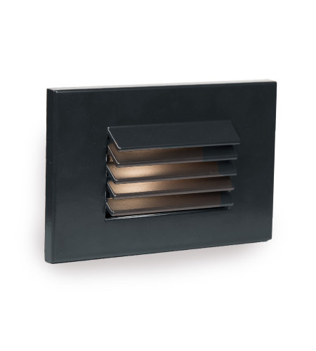 WAC Lighting WL-LED120F-AM-BK LED Horizontal Louvered Step and Wall Light 277V Amber in Black