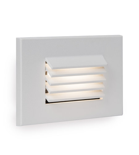 WAC Lighting WL-LED120F-AM-WT LED Horizontal Louvered Step and Wall Light 277V Amber in White