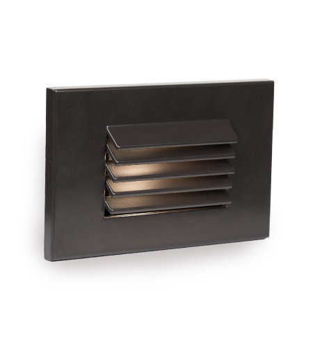 WAC Lighting WL-LED120F-AM-BZ LED Horizontal Louvered Step and Wall Light 277V Amber in Bronze