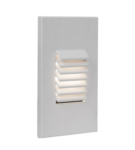 WAC Lighting WL-LED220F-AM-WT LED Vertical Louvered Step and Wall Light 277V Amber in White