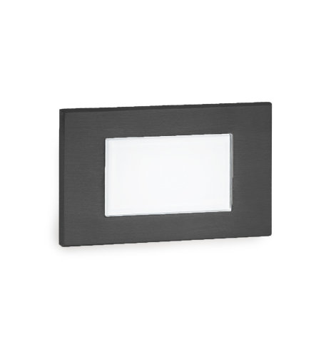 WAC Lighting WL-LED130F-C-BK LED Diffused Step and Wall Light 277V 3000K in Black