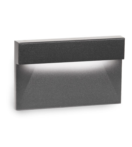 WAC Lighting WL-LED140F-C-BK LED Horizontal Ledge Step and Wall Light 277V 3000K in Black