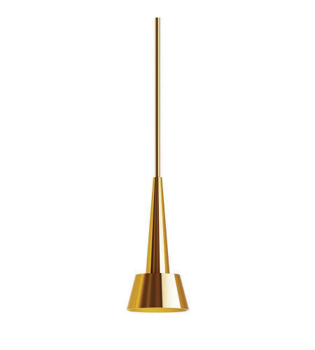 WAC Lighting PD-51712-BR Rocket LED WAC dweLED LED Pendant in Brushed Brass