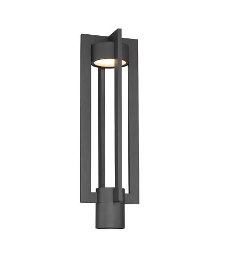 dweLED by WAC Lighting PM-W48620-BK Chamber 20in LED Outdoor Post Mount 3000K in Black