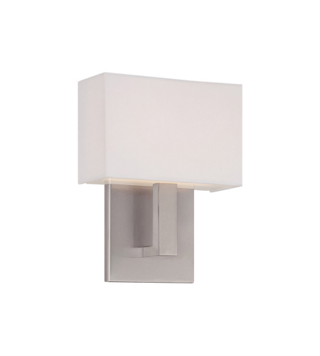 WAC Lighting WS-13107-BN Manhattan LED dweLED LED Wall Sconce in Brushed Nickel