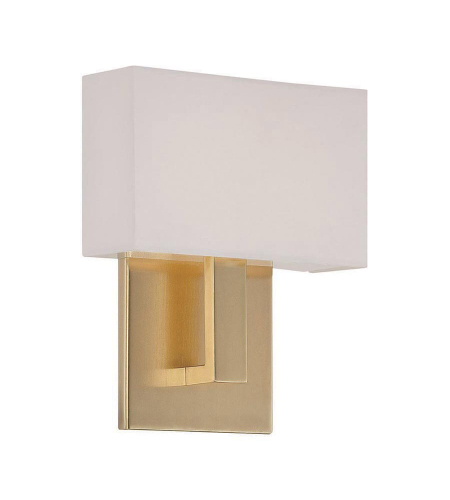WAC Lighting WS-13107-BR Manhattan LED dweLED LED Wall Sconce in Brushed Brass