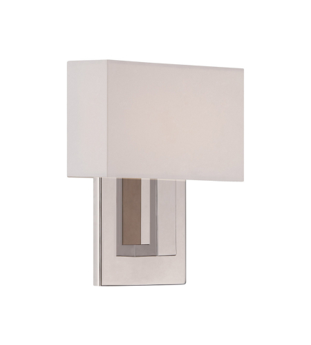 WAC Lighting WS-13107-PN Manhattan LED dweLED LED Wall Sconce in Polished Nickel