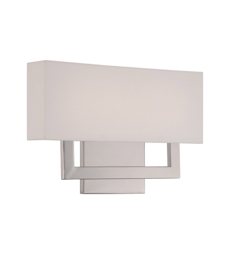 WAC Lighting WS-13115-PN Manhattan LED dweLED LED Wall Sconce in Polished Nickel