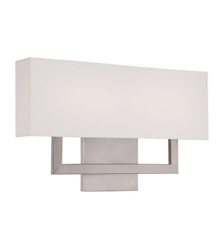 WAC Lighting WS-13122-BN Manhattan LED dweLED LED Wall Sconce in Brushed Nickel