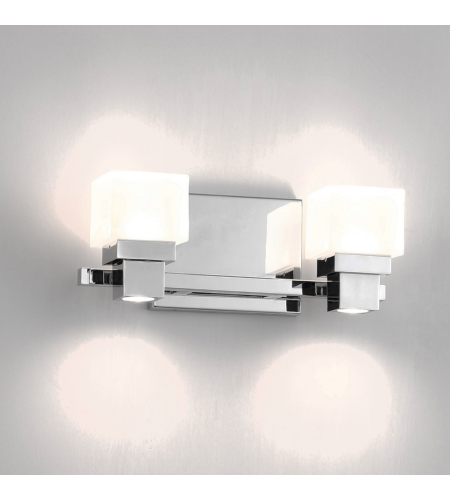 WAC Lighting WS-44512-CH Kube LED WAC dweLED LED Wall Sconce in Chrome