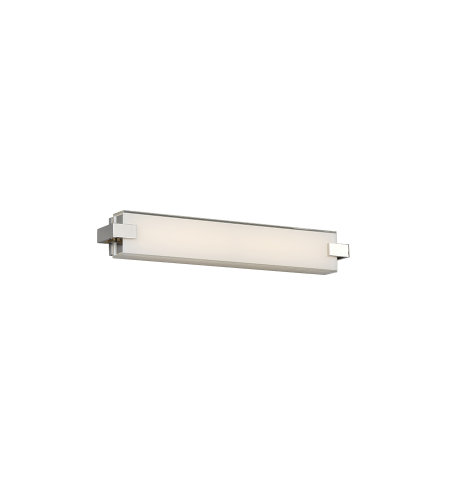 dweLED by WAC Lighting WS-79622-PN Bliss 22in LED Bathroom Vanity & Wall Light 3000K in Polished Nickel