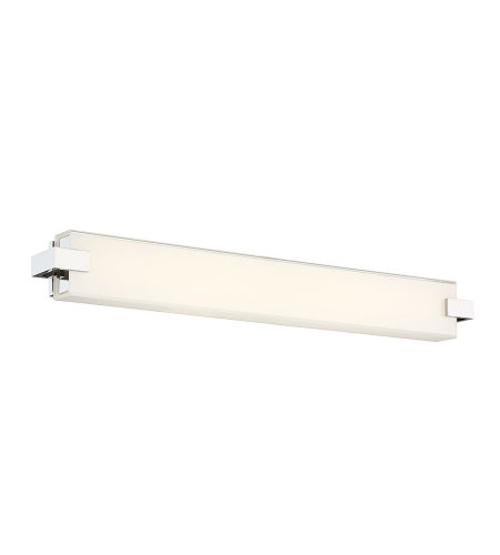 dweLED by WAC Lighting WS-79628-PN Bliss 28in LED Bathroom Vanity & Wall Light 3000K in Polished Nickel