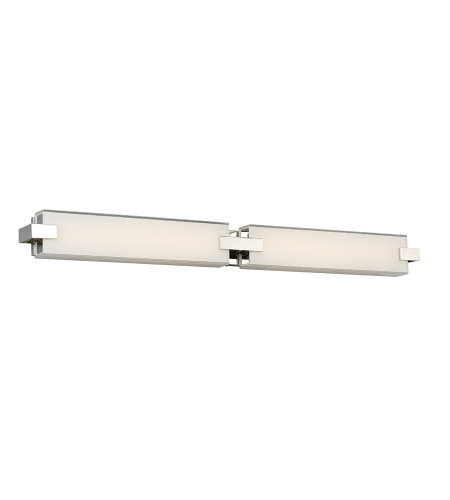 dweLED by WAC Lighting WS-79636-PN Bliss 36in LED Bathroom Vanity & Wall Light 3000K in Polished Nickel