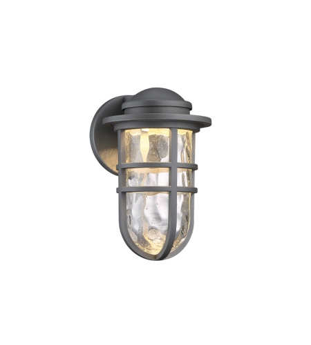WAC Lighting WS-W24509-GH Steampunk LED WAC dweLED LED Indoor/Outdoor Wall Sconce in Graphite