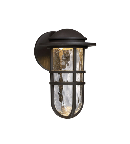 WAC Lighting WS-W24513-BZ Steampunk LED WAC dweLED LED Indoor/Outdoor Wall Sconce in Bronze