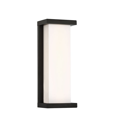 dweLED by WAC Lighting WS-W47814-BK Case 14in LED Outdoor Wall Sconce 3000K in Black