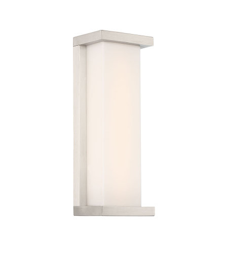 dweLED by WAC Lighting WS-W47814-SS Case 14in LED Outdoor Wall Sconce 3000K in Stainless Steel