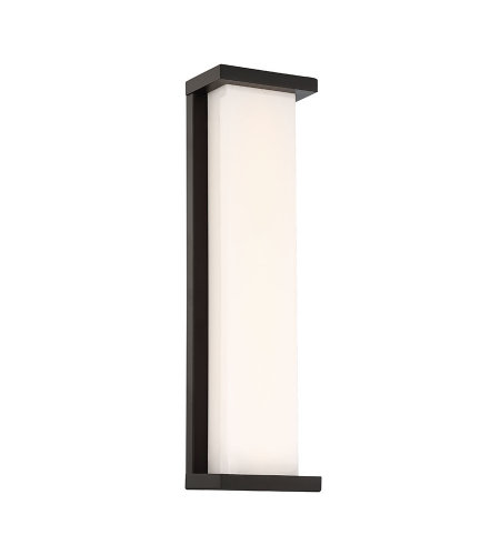 dweLED by WAC Lighting WS-W47820-BK Case 20in LED Outdoor Wall Sconce 3000K in Black
