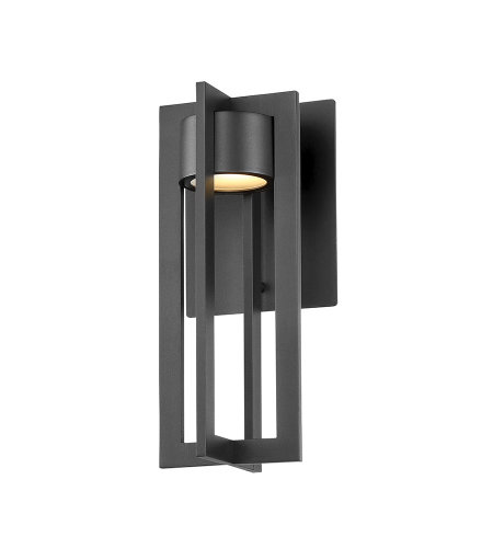 dweLED by WAC Lighting WS-W48612-BK Chamber 12in LED Outdoor Wall Sconce 3000K in Black