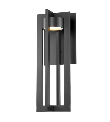 dweLED by WAC Lighting WS-W48620-BK Chamber 20in LED Outdoor Wall Sconce 3000K in Black