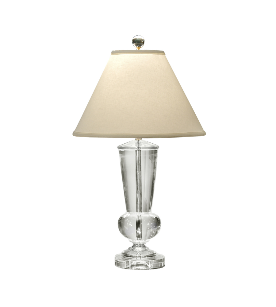 Wildwood Lamps 1153 With Center Wiring Solid Crystal 1 Light Crystal Urn  Lamp