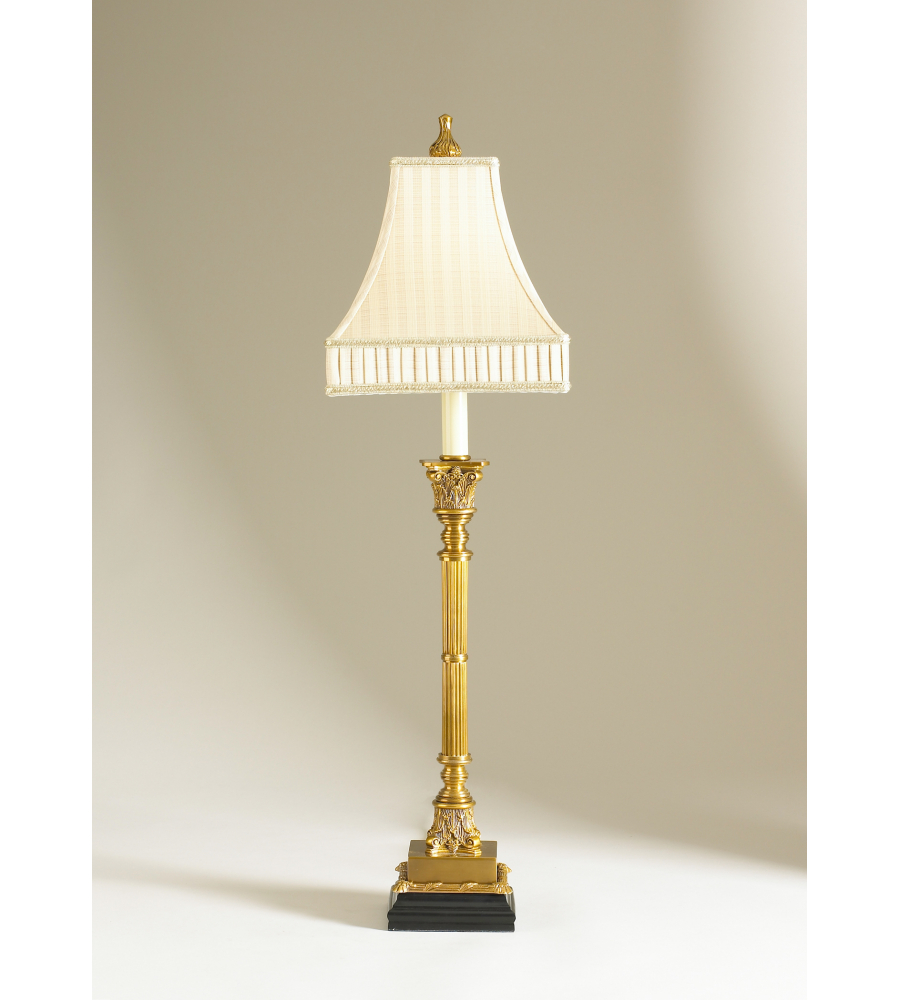 Wildwood Lamps 68069 2 Chelsea House Cream Shade Brass Candlestick Lamp 1  Light St Michel Console Lamp