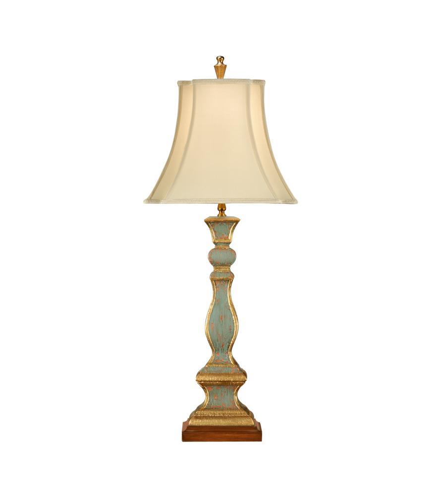 Wildwood Lamps 8889 Wildwood Old Worn Column Lamp In Hand Painted