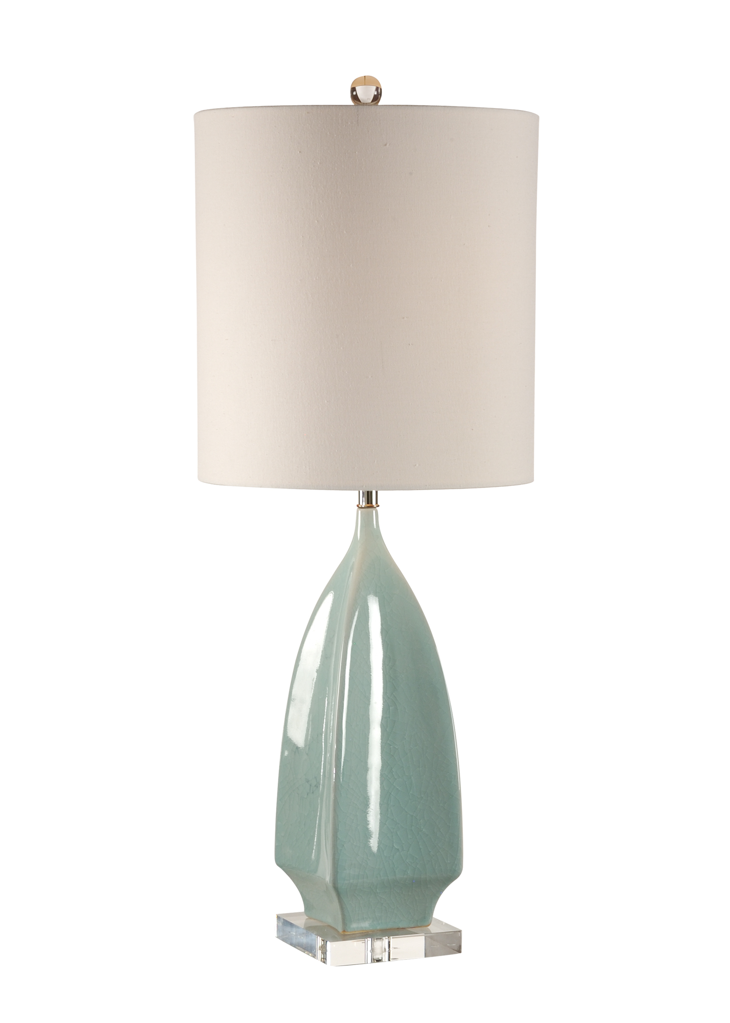 Superieur Wildwood Lamps 13135 Coastal Lola Lamp In Pale Blue Crackle Glaze