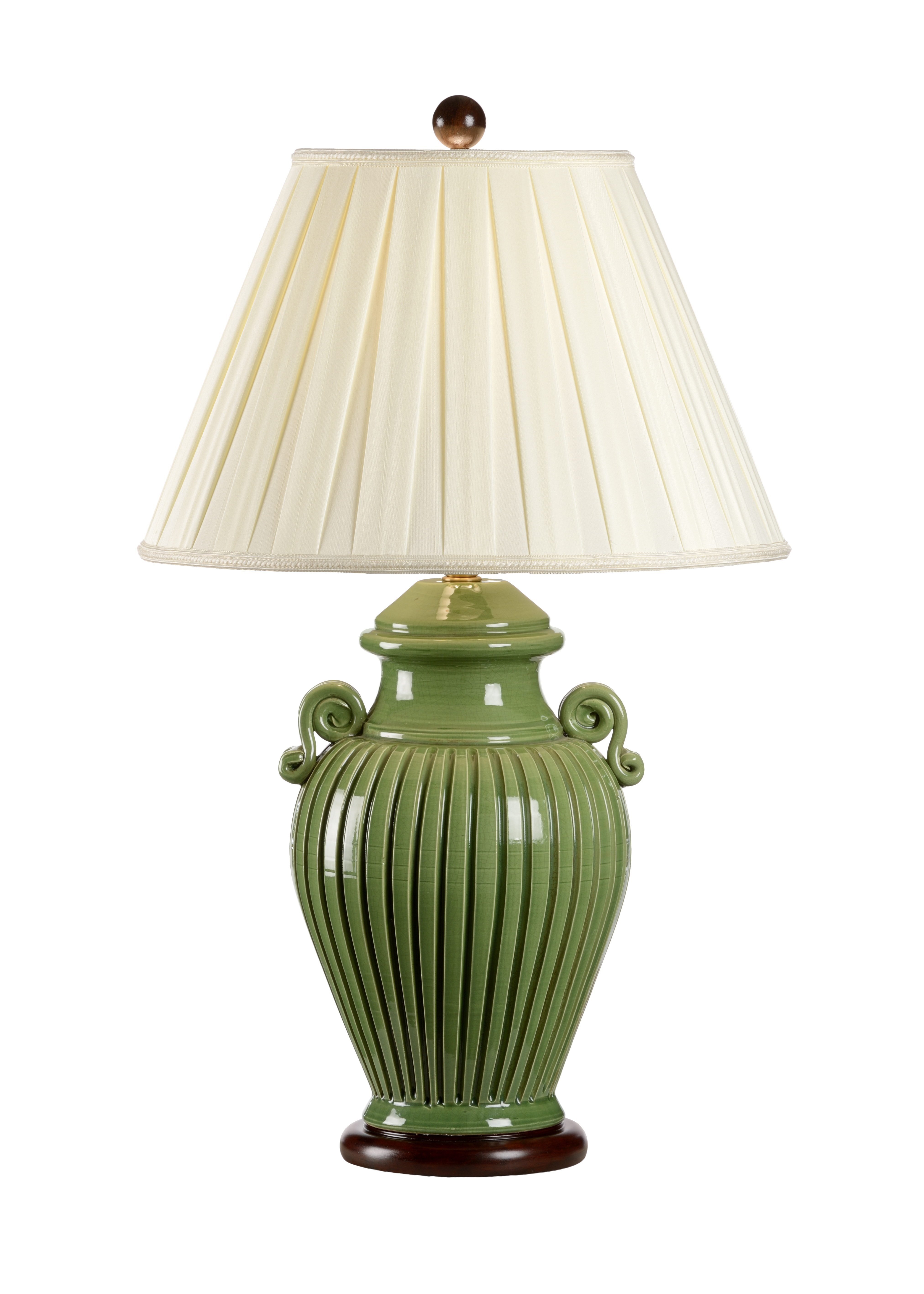 chairish vintage green lamp lamps product table glass