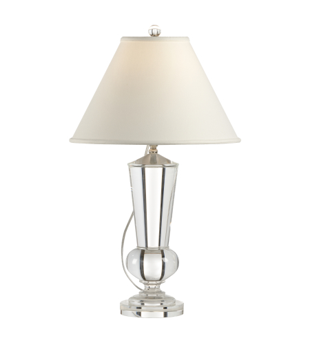 Wildwood Lamps 1152 Transitional Crystal Urn Lamp in Clear