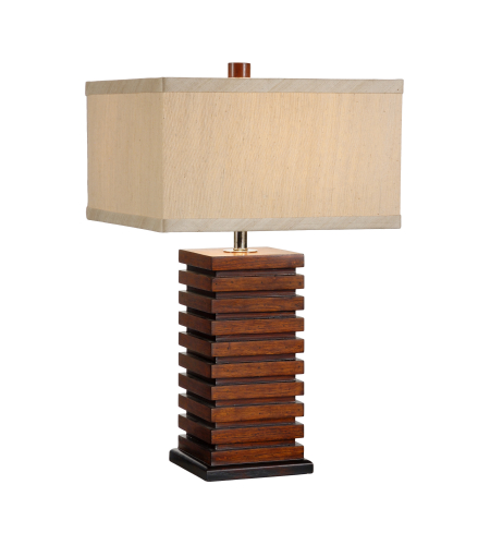 Wildwood Lamps 15666 Tommy Bahama Stacked Squares Table Lamp in Craftsman Made And Finished