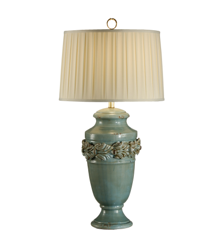 Wildwood Lamps 17715 Tuscan Ceramic-Hand Made And Finished Bruised Antique Glaze 1 Light Turquoise Urn Lamp