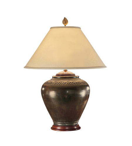 Wildwood Lamps 21018 High Country Carved Neck Pot Lamp in Pottery