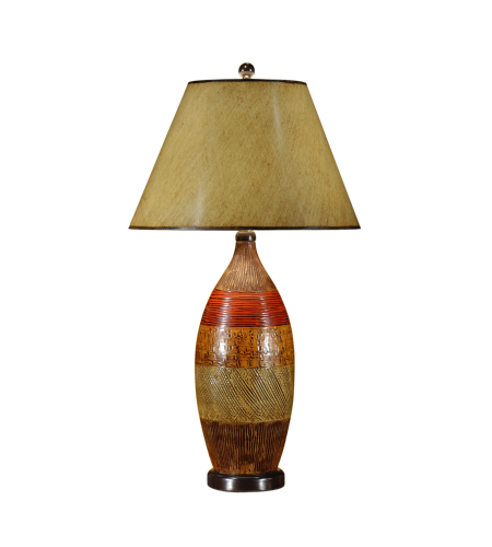 Wildwood Lamps 21159 High Country Textured Bottle Lamp in Hand Colored