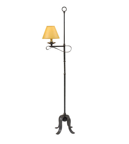 Wildwood Lamps 21203 Wrought Iron Hand Made And Finished 1 Light Old Iron Floor Lamp
