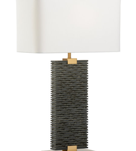 Wildwood Lamps 21257 High Country Stonehenge Lamp in Matte Black