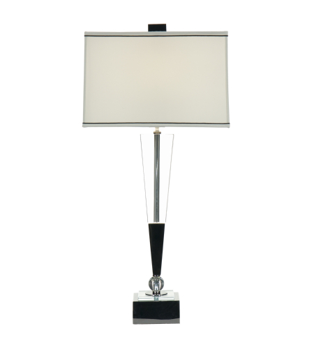 Wildwood Lamps 22264 And Black Chrome Accents Polished Acrylic 1 Light Inverted Crystal Lamp