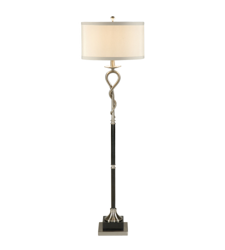 Wildwood Lamps 22290 Transitional Loop And Twist Floor Lamp in Brushed