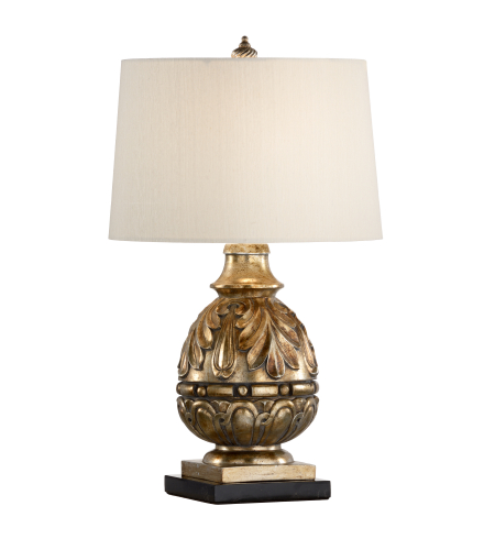 Wildwood Lamps 23339 Black Marble Mounting Antique Gold Leaf Finish - Composite 1 Light Billiard Lamp