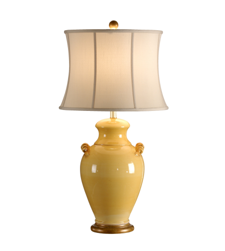 Wildwood Lamps 27535 Squash Yellow Glaze/Antique Gold Tuscan Ceramic/Composite 1 Light Giselle Lamp-Squash