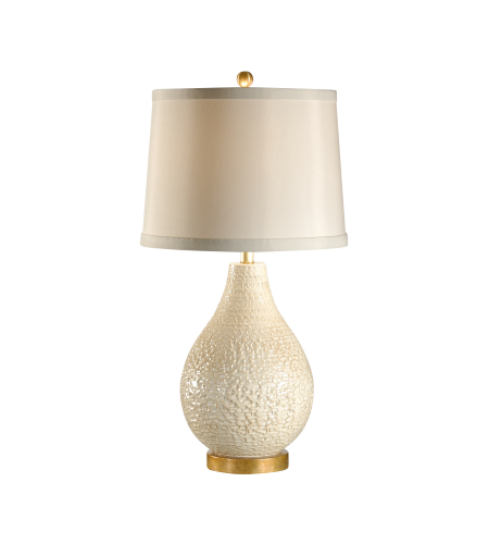 Wildwood Lamps 27539 Old White/Antique Gold Tuscan Ceramic/Composite 1 Light Capri Lamp