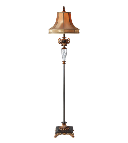 Wildwood Lamps 46292 Bronze/Clear Composite/Crystal 1 Light Footed Floor Lamp